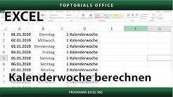 Kalenderwoche von einem Datum berechnen in Excel