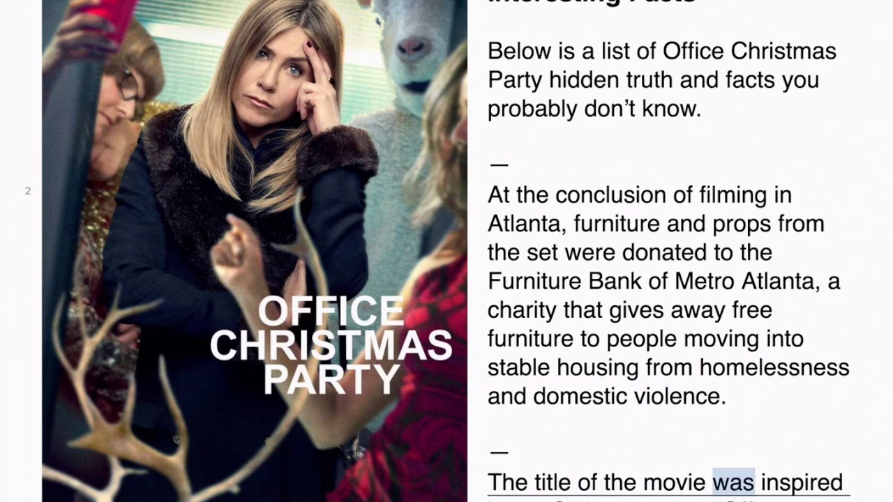 Office Christmas Party Hidden Facts & Truth You Probably Don\'t Know ...