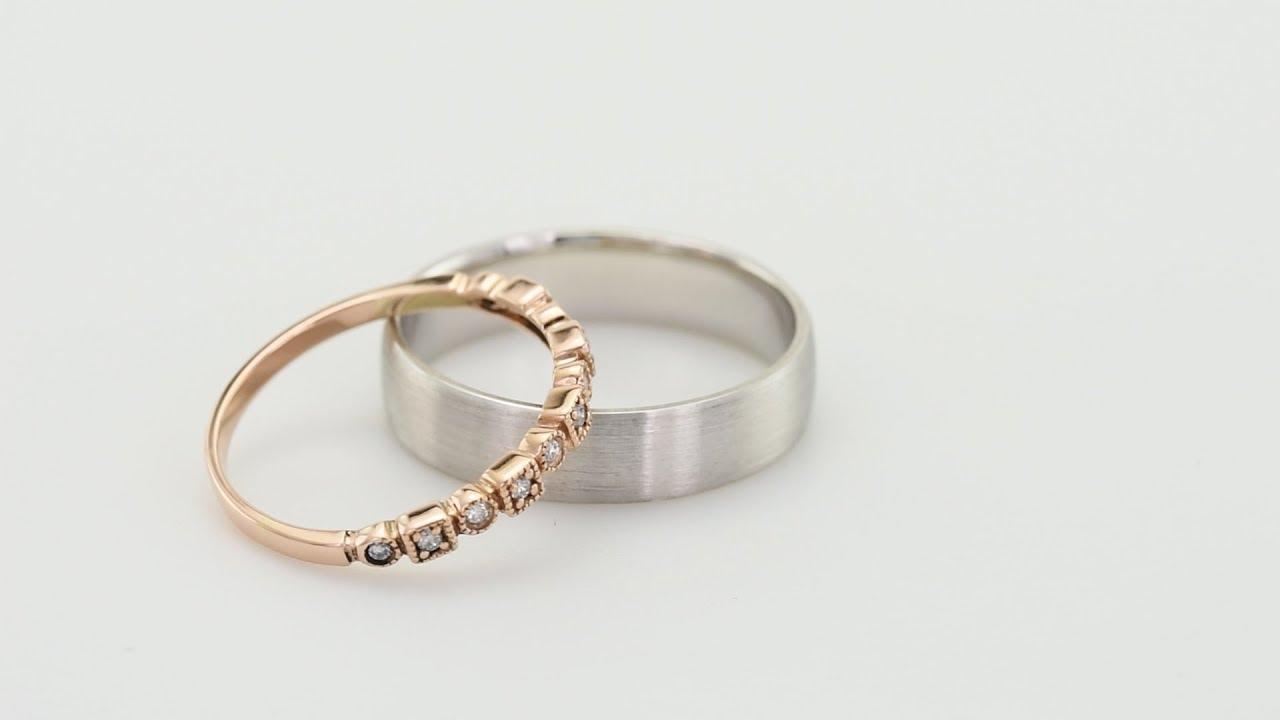 Diamantova Vintage Obroucka A Pansky Komfortni Snubni Prsten Sage