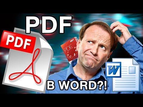 Как открыть Pdf файл в Word?