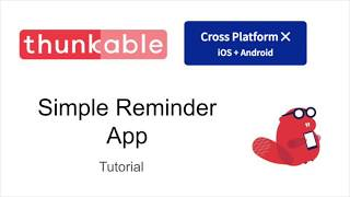 Reminder App Tutorial Thunkable X screenshot 4
