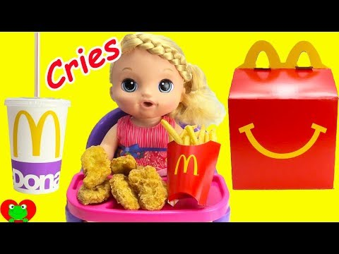 Baby Alive Sweet Tears Cries and Eats McDonald's