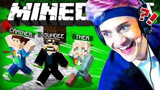 NINJA CHASES US IN MINECRAFT!! Minecraft Hide and Seek