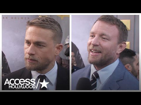 'King Arthur': Charlie Hunnam & Guy Ritchie Jokingly Feud Over Excalibur | Access Hollywood