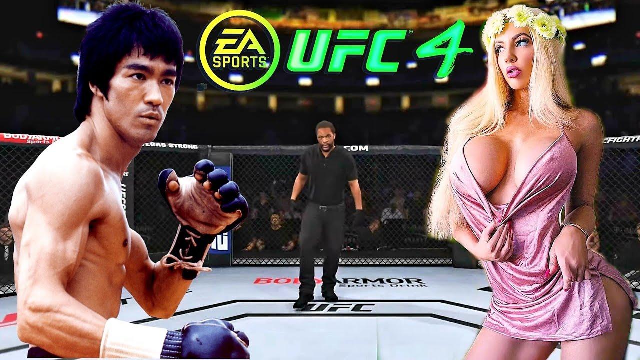 PS5   Bruce Lee vs. Nicolette Shea (EA Sports UFC 4)
