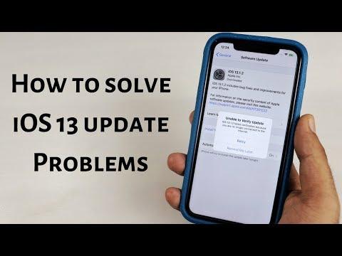 Solve IOS 13 Update Problems