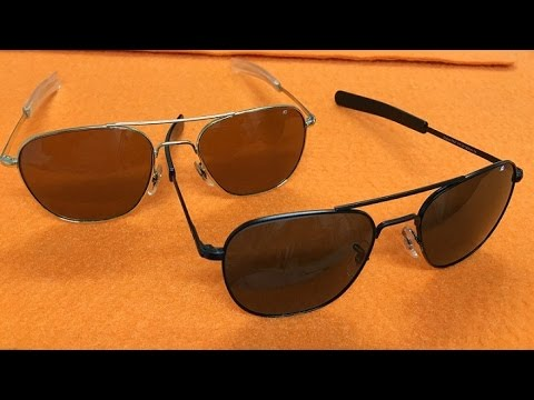 beec33c99cf AO American Optical Original Pilot Sunglasses Review  Timeless Style! BEST  AVIATORS!