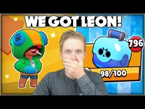 WE OPENED LEON! - Huge 796 Brawl Box Opening! + Leon Gameplay! - Brawl Stars Live Update!
