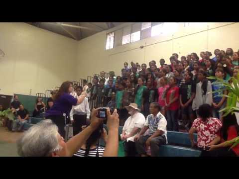 Molokai middle school May Day 2013