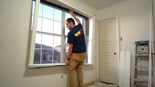 Casing a window in one piece