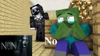 Monster School : The nun HORROR GAME CHALLENGE II - Minecraft Animation