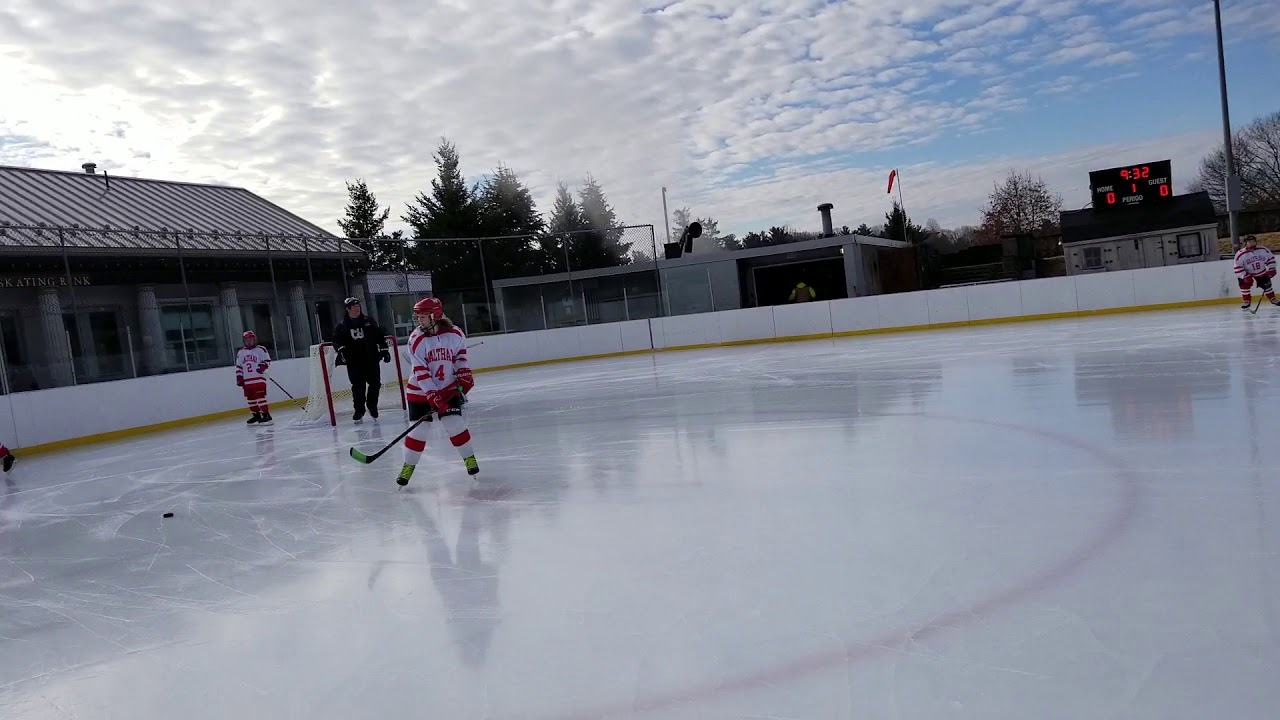 Ella practicing before the game