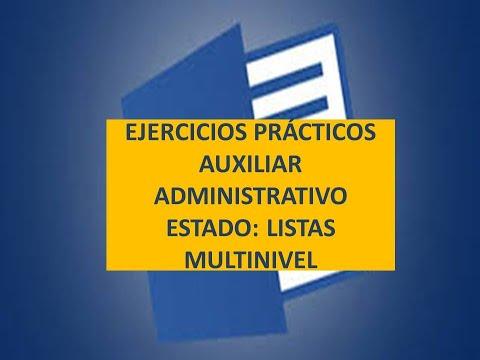 👍👍💲💲ejercicio-prÁctico-word-examen-oposiciÓn-cuerpo-general-auxiliar-de-la-administraciÓn-del-estado
