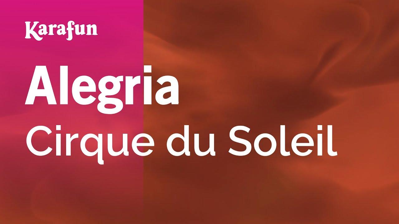 DU CIRQUE MUSIQUE SOLEIL GRATUIT TÉLÉCHARGER ALEGRIA