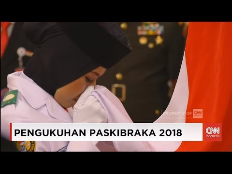 Presiden Jokowi Kukuhkan Anggota Paskibraka Nasional 2018