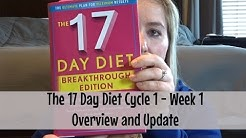 The 17 Day Diet | Cycle 1 Week 1 | Overview and Update | April 2017