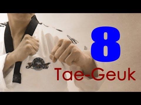 WTF Taekwondo poomsae Taegeuk 8 Jhang (taekwonwoo) 태극 8 장