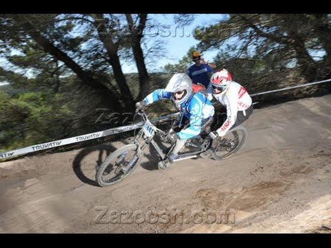 Sea Otter Classic 2014 Downhill Race Run On A Tandem Mountain Bike