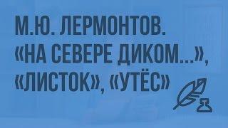 М.Ю. Лермонтов. «На севере диком…», «Листок», «Утес». Видеоурок по литературе 6 класс