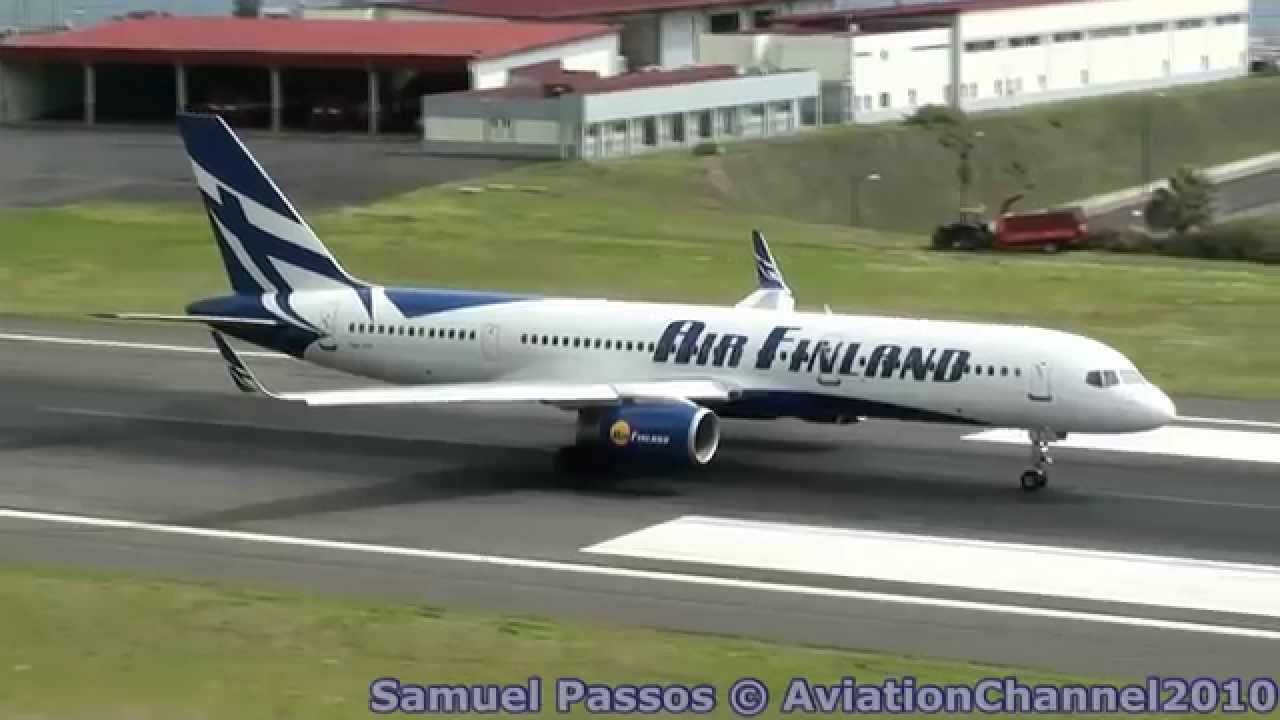 shortest take off ever seen by b757 200 madeira youtube
