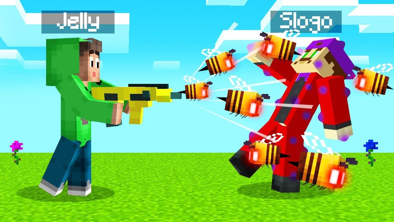 Download We Found A BEE SHOOTING GUN In MINECRAFT! (Insane)