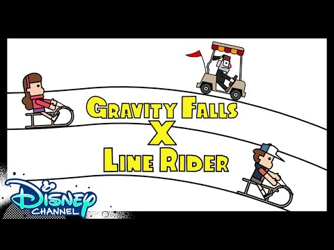Gravity Falls x Line Rider | Disney Channel Animation