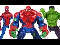 Marvel Avengers Hulk and Spider Man combine! Spider-Hulk!! Defeat the Thanos! | DuDuPopTOY