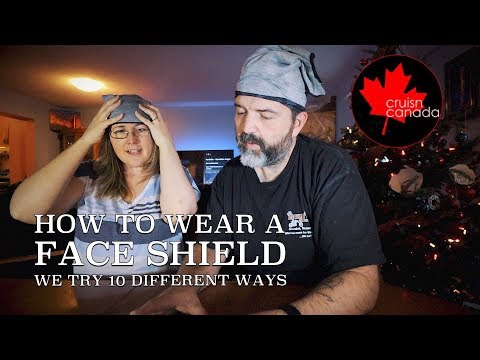 How To Wear A Face Shield | We Show 10 Different Ways!
