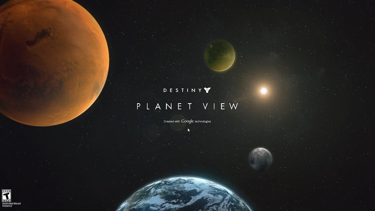 Destiny Planet View All Planets 90/90 Points Explored ...