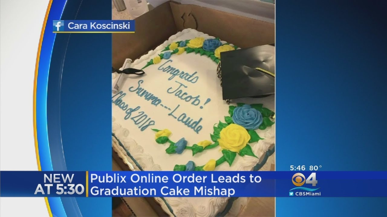 Publix Refuses To Write Summa Cum Laude On Graduation Cake Youtube