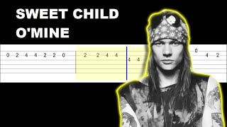 Guns N' Roses - Sweet Child O' Mine (Easy Guitar Tabs Tutorial)