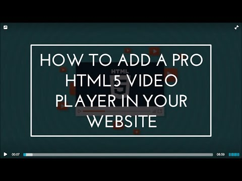 How To Add A Pro HTML5 Video Player In Your Website