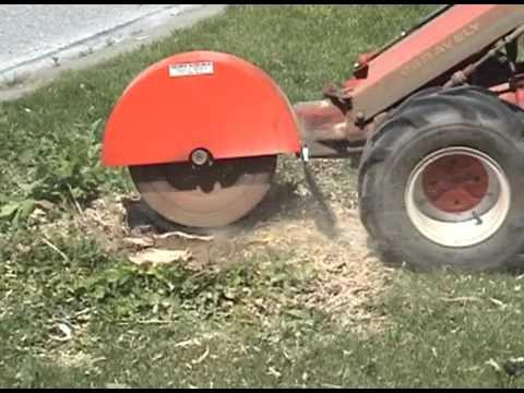 Gravely - Stump Grinder - YouTube
