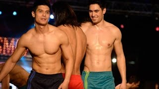 More Runway Models Tease Crowd at the Cosmo Carnival 2015