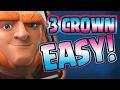 CLASH ROYALE - 3 Crown Deck! - Best Giant Beatdown Deck!