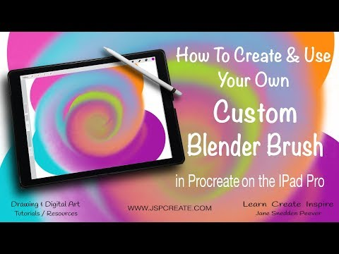 How To Create and Use Your Own Blender Brush  in Procreate on The IPad Pro