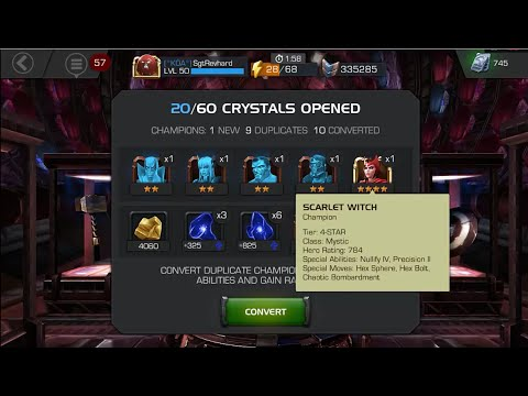 hqdefault marvel contest of champions 7 day event crystal opening 70 prem, 2