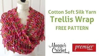 Trellis Wrap Free Crochet Pattern - Right Handed