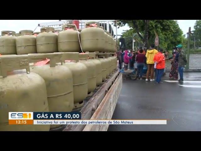 Venda de gás a preço justo, em São Mateus, denuncia os efeitos da privatização