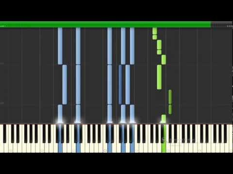 Canon rock version -  Johann Pachelbel  on piano  Synthesia
