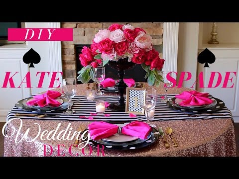DIY KATE SPADE INSPIRED WEDDING DECORATIONS | KATE SPADE INSPIRED DECOR