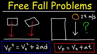 Free Fall Physics Problems - Acceleration Due To Gravity