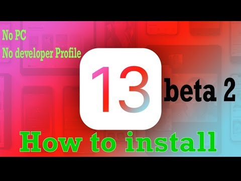 Install iOS 13 Beta 2  NO COMPUTER no Developer Profile