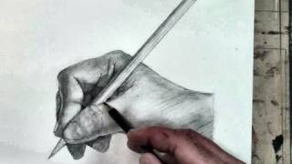 How to Draw the Hand Step by Step- Holding a Pencil