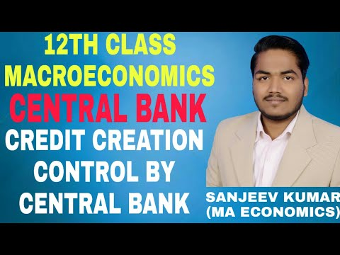 Class 12th macroeconomics | Central Bank | Functions of central | Credit Control (CRR, SLR)