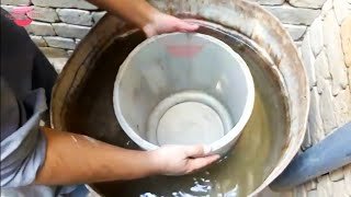 How to make large cement pot at home | DIY planter | DIY cement pot | Tension Free World