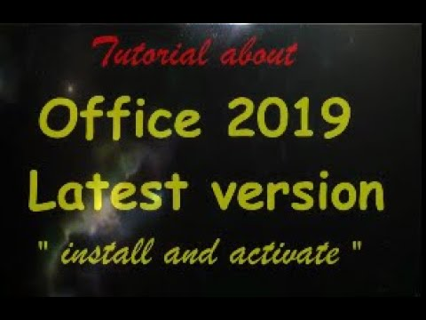 How to install and activate office 2019 the latest version thumbnail