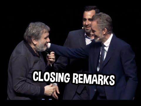Slavoj Zizek & Jordan Peterson share closing remarks