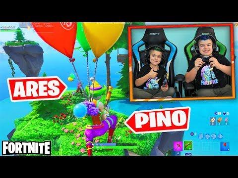 BATALLA EN EL CIELO DE FORTNITE!!! PINO VS ARES/ MODO CREATIVO
