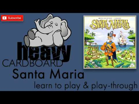 Santa Maria 3p Play-through, Teaching, & Roundtable discussion by Heavy Cardboard